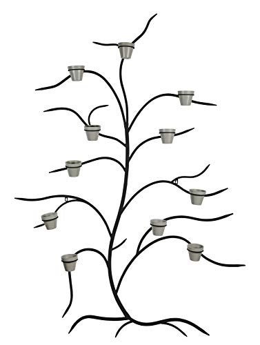 Martha Stewart Garden, Metal Tree Wall Planter with 11 Pots, Black (Best Trees For Planters)