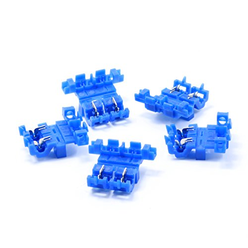Lumision 5 PACK Blue Splice Inline Self Stripping ATO ATC Fuse Holder Assembly ()