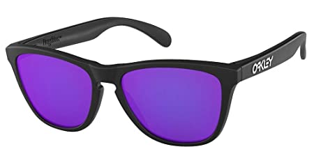 2294d093d25 Image Unavailable. Image not available for. Colour  Oakley Collectors  Edition Frogskins Sunglasses Matte Black OO9013 24 298 55