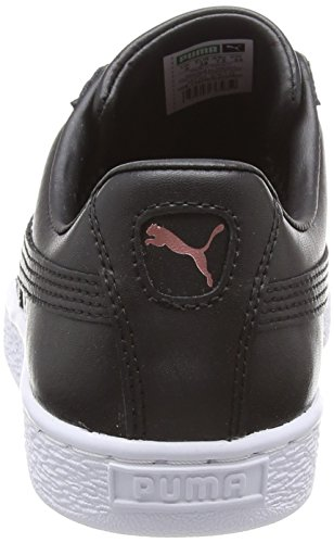 Black Donna Basse rose Gold da Ginnastica Wn's Leather Basket Heart Nero Scarpe Puma Puma 02 ydCPaqKx