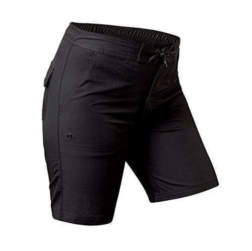 - UV SKINZ UPF50+ Womens Board Shorts-Black-2XL