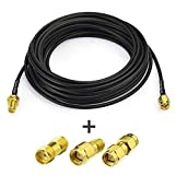 Superbat RF coaxial SMA Male to SMA Female Bulkhead RG174 15ft Cable + 3pcs RF Coax SMA Adapter Kit for SDR Equipment Antenna Ham Radio,3G 4G LTE Antenna,ADS-B,GPS and etc