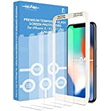 Beam Electronics Screen Protectors (4 Pack) for iPhone X, iPhone XS, iPhone 11 Pro [NOT for iPhone 11] Tempered Glass Screen Protector- 99% Touch Accurate with Easy Installation Tray and Accessories