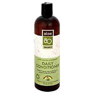 Lily of the Desert Aloe 80 Organics Daily Conditioner, Aloe, Lemon & Rosemary, 16-Ounces (Pack of 3)