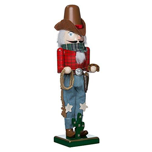 Kurt Adler 15-Inch Wooden Cowboy Nutcracker ()