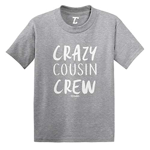 Crazy Cousin Crew - Cute Funny Infant/Toddler Cotton Jersey T-Shirt (Light Gray, 2T)
