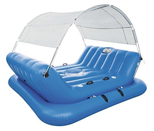 Bestway 43134 - Flotador Bestway Collerz Rock-N-Shade Isla Hinchable con techo desmontable y respaldo integrado (272 x 196 cm): Amazon.es: Deportes y aire ...