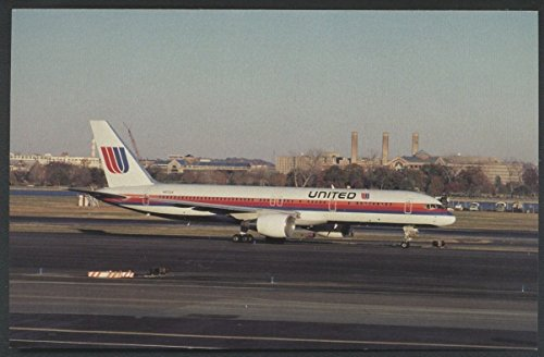 United Airlines Boeing 757 Washington National D.C. Airplane Postcard (Aircraft Types Airlines United)