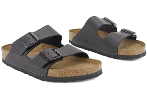 Birkenstock Unisex Arizona Soft Footbed Black Sandals - 8-8.5 2A(N) US Women