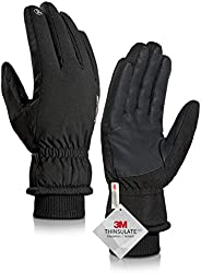 TRENDOUX Winter Gloves Men Women - 3M Thinsulate -30℉ Waterproof Ski Glove