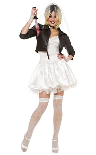 Of Bride Tiffany Costumes Chucky (Costume Culture Women's Licensed Bride Of Chucky Costume, White,)
