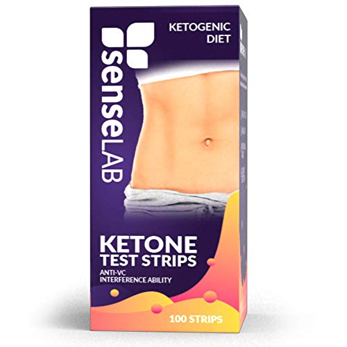 SenseLAB Ketone Strips (100-Count) Ketogenic Diet and Urine Tests | Keto, Paleo, and Low Carb/High Fat Dieting | FDA Approved Testers | Accurate Urinalysis Measurement