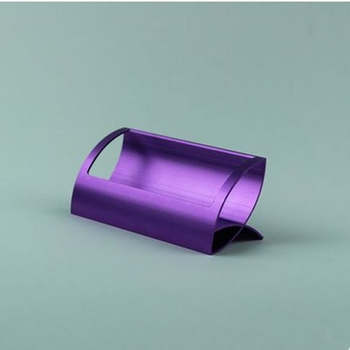AUCH ? Innovative/Creative Q Shape Stainless Steel Business/Name Card Holder/Rack for Desk,Office,Purple
