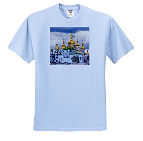 Price comparison product image 3dRose Danita Delimont - Churches - One Of Many Cathedrals, Kiev monastery Of The Caves, Kiev, Ukraine. - T-Shirts - Youth Light-Blue-T-Shirt Small(6-8) (TS_257336_60)