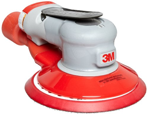 Powered Vacuums Air - 3M Random Orbital Sander - Elite Series 28502, Air-Powered, Central Vacuum, 6 Inch, 5/16