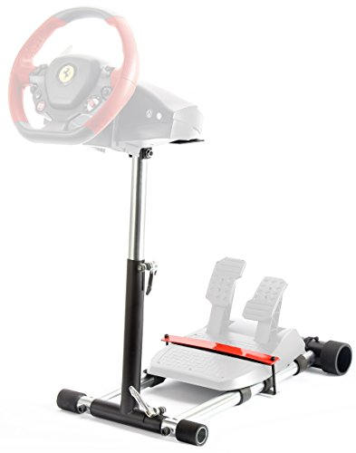 Wheel Stand Pro F458 Steering Wheelstand 4 Thrustmaster 458 (Xbox 360 Version), F458 Spider (Xbox One), T80,T100, RGT, Ferrari GT,F430; Logitech Driving Force GT wheel. V2: Wheel/Pedals Not (Steering Wheel Seat)