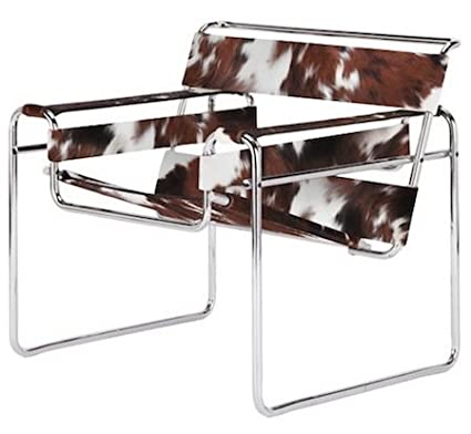 amazon com marcel breuer wassily style chair cowhide kitchen