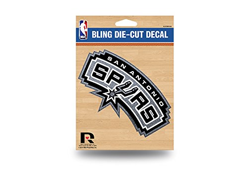 San Antonio Spurs Color Glitter Bling Sticker Decal Medium Die Cut (San Spurs Antonio Die)