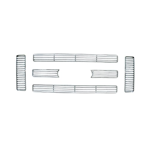 Bully  GI-47 Triple Chrome Plated ABS Snap-in Imposter Grille Overlay, 6 Piece