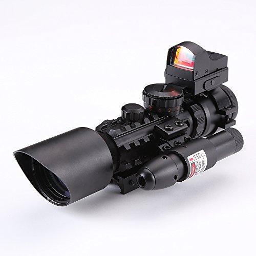 IRON JIA'S 3-10X42 Tactical Rifle Scope Green/ Red (Optio...