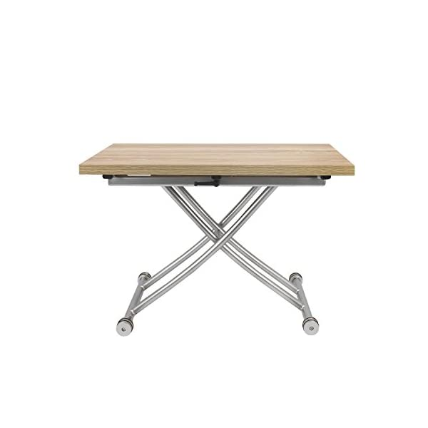Spacemaster Transforming X Coffee And Dining Table 2 0 In Light Wood Finish Gift Of Space