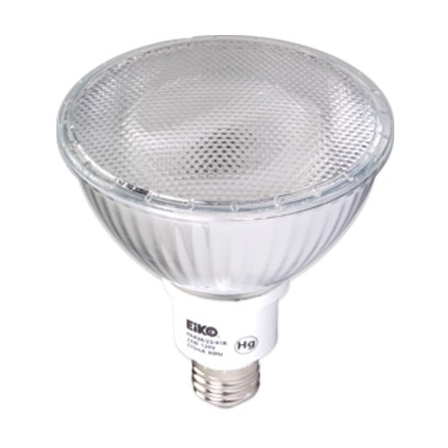Eiko 06277 - 23 Watt Indoor/Outdoor Compact Fluorescent PAR38 Flood, 3000K