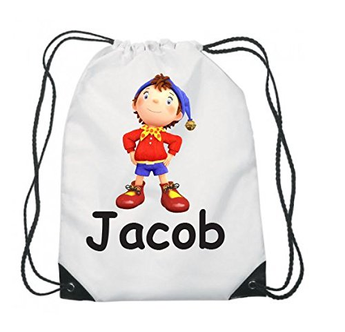 PERSONALISED GYM BAG. DRAWSTRING, SWIMMING, PE, SPORT, SCHOOL, ANY NAME, NODDY FUNKY DUMMY LTD