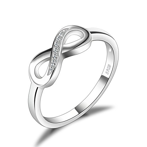 - JewelryPalace Infinity Forever Love Cubic Zirconia Anniversary Promise Ring 925 Sterling Silver Size 8