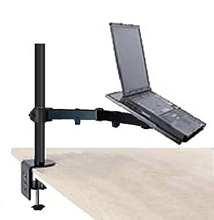EZM Notebook/ordenador portátil Brazo de soporte de escritorio para pantalla plana pinza con opción