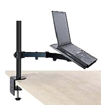 EZM Notebook/ordenador portátil Brazo de soporte de escritorio para pantalla plana pinza con opción de montaje con ojal (002 - 0005): Amazon.es: Oficina y ...