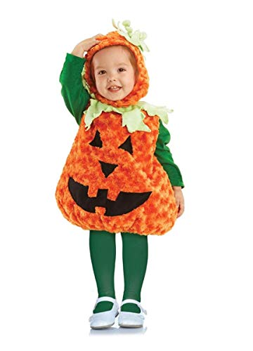 Underwraps Toddler's Halloween Pumpkin Belly Babies Costume, Orange, Large (2-4T)