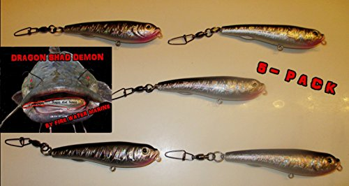 Firewatermarine 5 [five] DRAGON SHAD DEMON IN LINE CATFISH/STRIPER FLOAT FLOATER ()