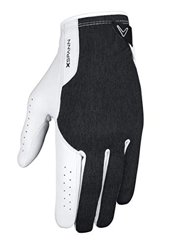 Callaway 2015 X-Spann All-Weather Performance Mens Compression Fit Golf Gloves-Pair Black Large