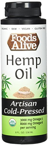 Foods-Alive-Hemp-Seed-Oil-Artisan-Cold-Pressed-Organic-8oz-Pack-of-2