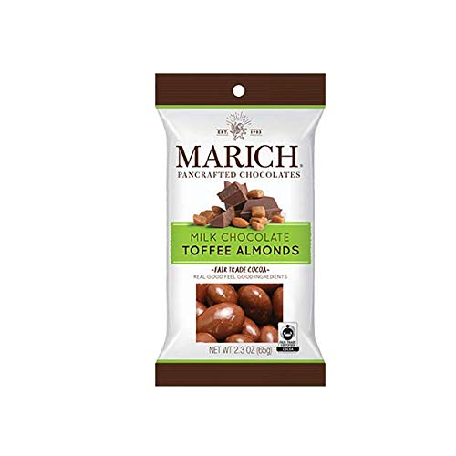Marich Chocolate Toffee Almonds, 2.3-Ounce (Pack of ()