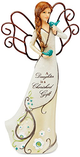Perfectly Paisley Daughter Angel Figurine by Pavilion, 7-1/2-Inch Tall, Inscription a Daughter is a Cherished Gift ()