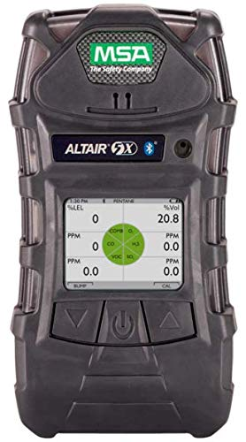 MSA 10116928 ALTAIR 5X Gas Detector, Color Display Screen, LEL, O2, CO, H2S, 10' Sample Line, 1' ()