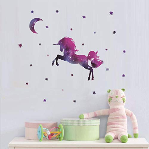 Bamsod Dream Unicorn Wall Stickers Kids Wall Decals Vinyl Art For Girls Boys Bedroom Home Decor 14 5 X22 5 Buy Online In India At Desertcart In Productid 158084119