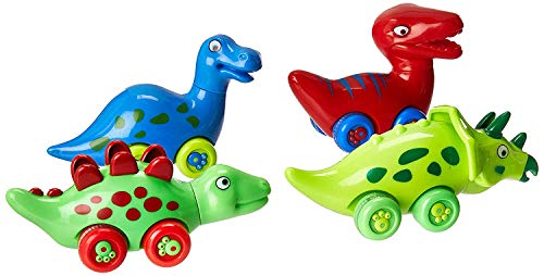 3 Bees & Me Dinosaur Toys for Boys and Girls - Set of 4 Toy Dinosaurs for Kids