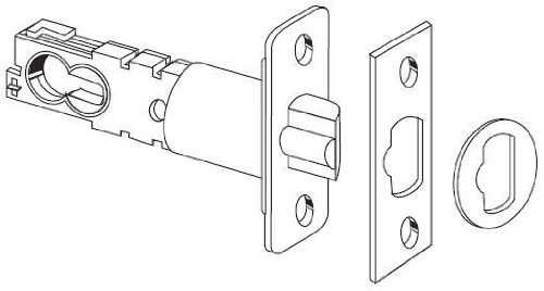 "Schlage 16-211 2 3/8"" or 2 3/4"" Replacement Deadlatch with Triple Faceplate Opti, Satin Nickel"