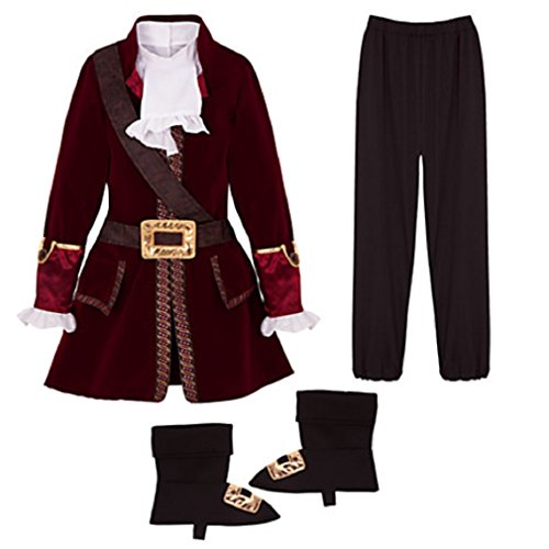 [Disney - Captain Hook Costume for Boys - Size 7/8 - New with Tags] (Captain Hook Costumes Disney)