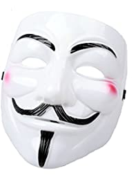 V for Vendetta Cosplay Guy Fawkes Halloween Mask, Chucky Venice Mardi Gras Party Costume Accessory Masked Bandit