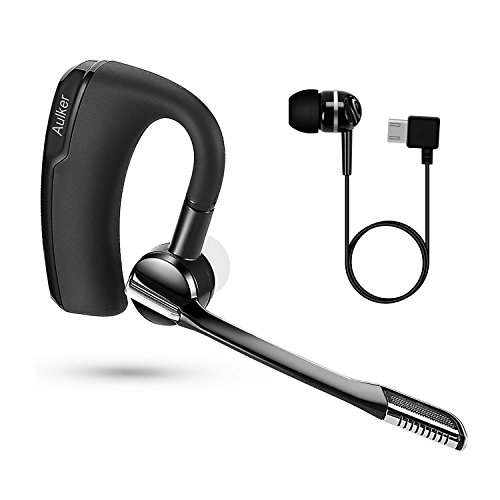 Black Mono Earbud Headset - 4