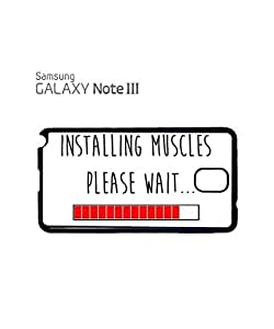 Installing Muscles Please Wait Gym Mobile Cell Phone Case Samsung Note 3 White
