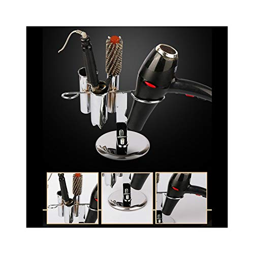 Durable Stainless Steel Tabletop Blow Dryer Rack Hair Straighteners Flat Irons Combs Barber Salon Storage Organizer Holder Stand