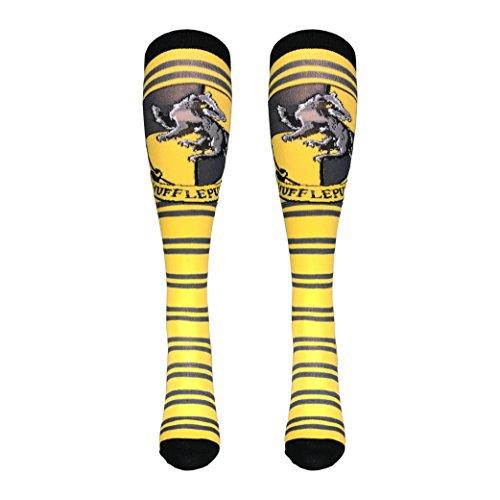 Harry Potter Hufflepuff Knee High Socks (Hufflepuff Yellow) (Size:9-11 Shoe Size:5-10) from Harry Potter
