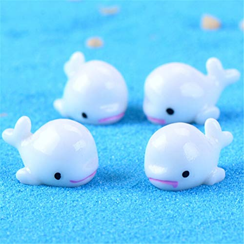 Oteshina Lovely 5pcs Diy Mini Dolphin Potted Plant Home Garden Dollhouse Ornaments Decor 4 4.5 Cm - Figurines Silver Miniatures Metal Figurines Miniatures Dolphins Background Wallpaper Dolphin