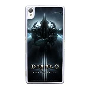 Back Skin Case Shell Sony Xperia Z3 Cell Phone Case White diablo igry Ojfuz Pattern Hard Case Cover