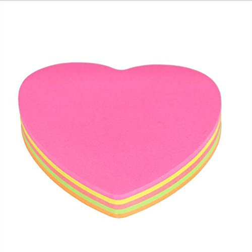 Love Notes Sticky Notes (Chige Sticky Notes, 3 in x 3 in, Various Shapes and Colors, 100 Sheets/Pad (Love))