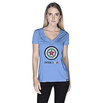 Creo Captain Jordan T-Shirt For Women - L, Blue